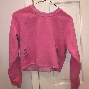 Super cute cozy pink sweatshirt
